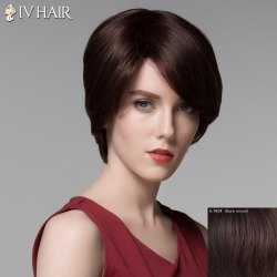 Noble Straight Side Bang Vogue Short Capless Real Natural Hair Wig For Women -