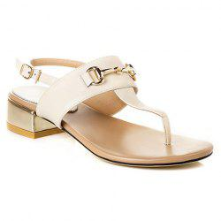 Trendy Flip Flops and Chunky Heel Design Sandals For Women - OFF-WHITE