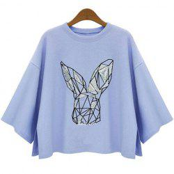 Batwing Sleeve Graphic T-Shirt -