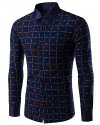 Long Sleeves Plaid Single Breasted Shirt For Men -