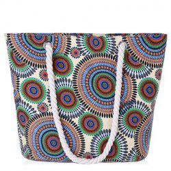 Casual Multicolor and Circle Pattern Design Shoulder Bag For Women -