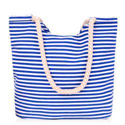 Leisure Striped and Canvas Design Shoulder Bag For Women -