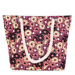 Leisure Canvas and Five-Pointed Star Design Shoulder Bag For Women -