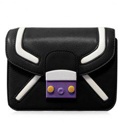 Trendy Cover and Color Block Design Crossbody Bag For Women -