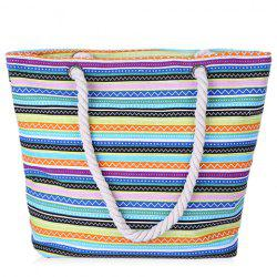 Leisure Multicolor and Striped Design Shoulder Bag For Women -