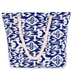 Leisure Color Block and Geometric Pattern Design Shoulder Bag For Women - BLUE/WHITE