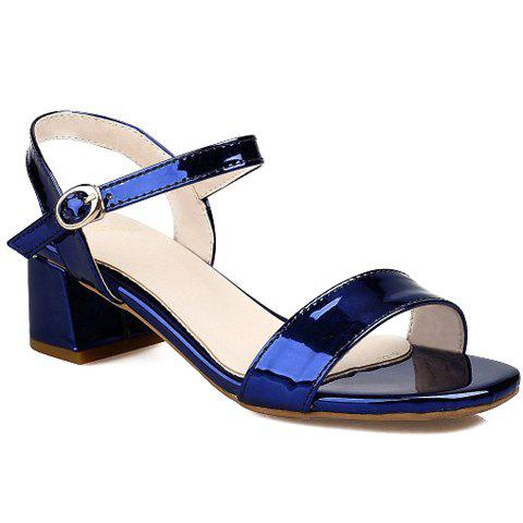 Fancy Trendy Solid Colour and Chunky Heel Design Sandals For Women