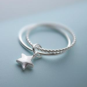 Star Decorated Layered Ring -