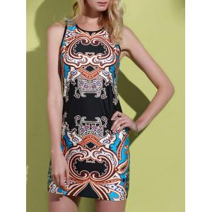Mini Racerback Print Tank Dress