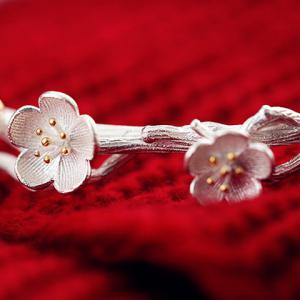 Charming Simple Style Wintersweet Cuff Bracelet For Women -
