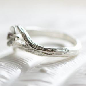 Alloy Wintersweet Cuff Ring - SILVER ONE-SIZE