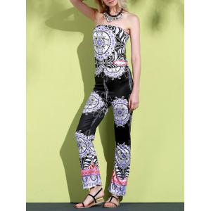 SleevelessStrapless One-Piece Jumpsuit
