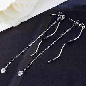 Pair of Charming Simple Style Link Chain Earrings For Women -
