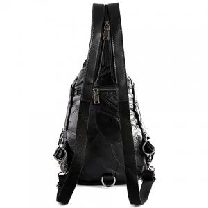 Fashion PU Leather and Rivets Design Backpack For Men -