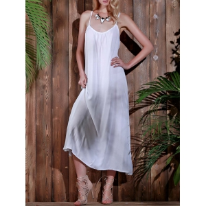 Open Back Beach Casual Long Maxi Slip Dress -