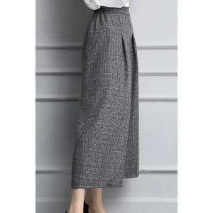 Stylish High-Waisted Wide Leg Ninth Pants For Women -