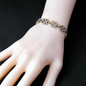 Gorgeous Rhinestone Floral Hollow Out Bracelet For Women -