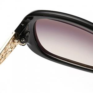 Chic Rhinestone Inlay Hollow Out Metal Embellished Sunglasses For Women -