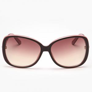 Chic Rhinestone Inlay Hollow Out Metal Black Match Sunglasses For Women -