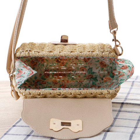Latest Trendy Cover and Weaving Design Shoulder Bag For Women - DEEP BROWN  Mobile