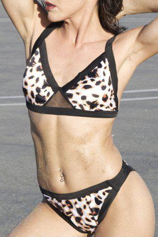 Discount Sexy Push Up Leopard Bikini Set For Women