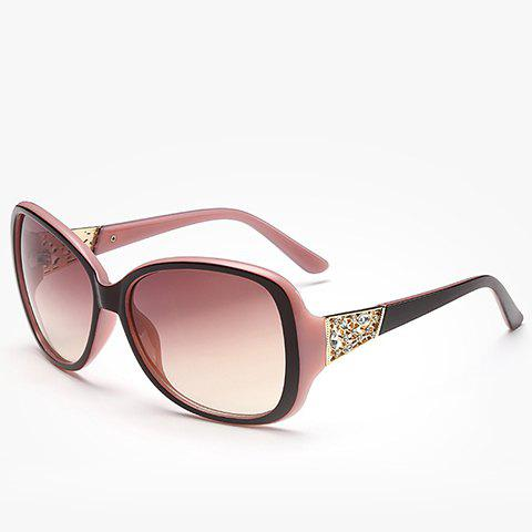 Affordable Chic Rhinestone Inlay Hollow Out Metal Black Match Sunglasses For Women