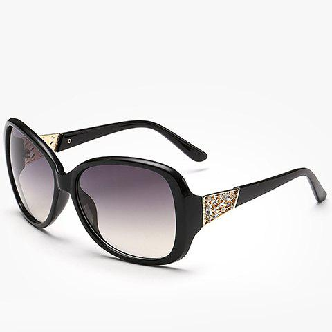 Fancy Chic Rhinestone Inlay Hollow Out Metal Embellished Sunglasses For Women