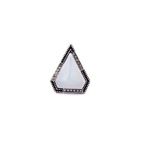Store Faux Gem Triangle Ring