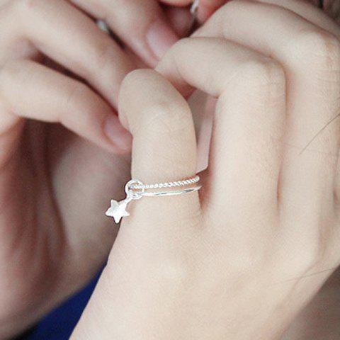 Online Star Decorated Layered Ring