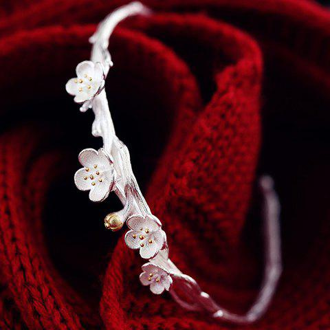 Fancy Charming Simple Style Wintersweet Cuff Bracelet For Women