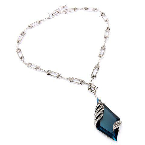Online Vintage Rhinestone Geometric Pendant Necklace For Women