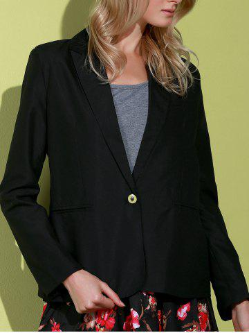 Sale Lapel Long Sleeve One Button Blazer