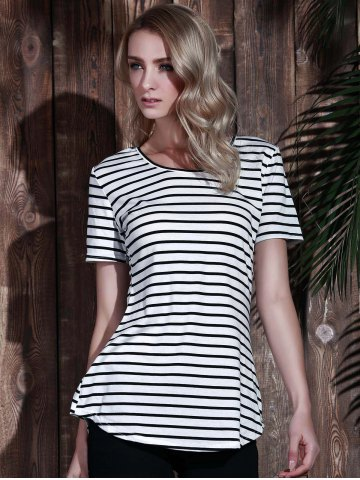 Latest Tunic Striped T-Shirt - XL STRIPE Mobile