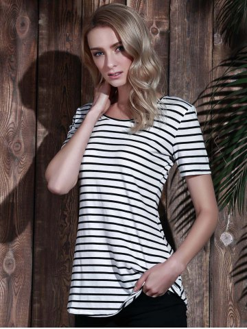 Sale Tunic Striped T-Shirt - XL STRIPE Mobile