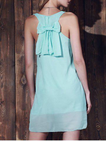 New Bowknot Chiffon Tank Dress - S MINT GREEN Mobile
