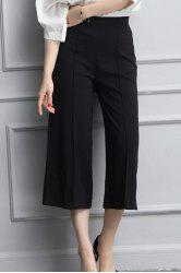 High Waisted Crop Wide Leg Culotte Pants