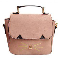 Sweet Metal and Colour Block Design Crossbody Bag For Women