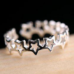 Hollow Out Star Cuff Ring -