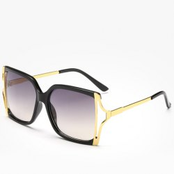 Chic Hollow Out Metal Splicing Sunglasses For Women -