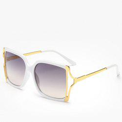 Chic Hollow Out Metal Splicing Sunglasses For Women