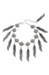 Chic Alloy Leaf Tassel Bracelet For Women