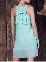 Bowknot Chiffon Tank Dress - MINT GREEN
