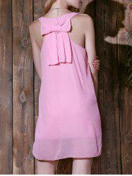 Bowknot Chiffon Tank Dress - PINK