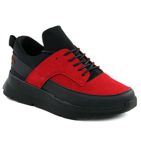 Discount Stylish Suede and Colour Block Design Athletic Shoes For Men