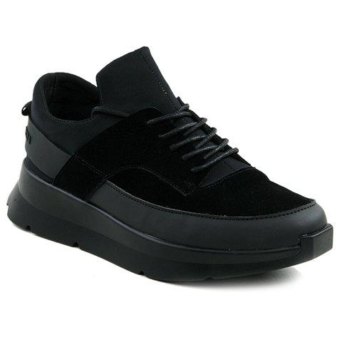Discount Trendy Black Colour and Splicing Design Athletic Shoes For Men