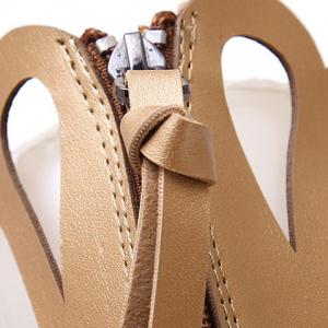 Fashion PU Leather and Hollow Out Design Sandals For Women -
