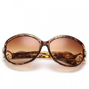 Chic Rhinestone and Cloud Shape Decorated Flecky Sunglasses For Women - YELLOW