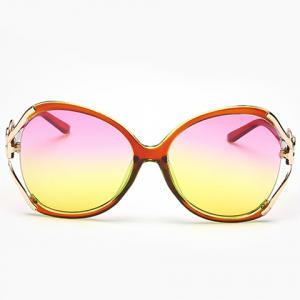 Chic Hollow Out Heart Bow Design Two Color Lenses Sunglasses For Women -