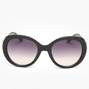 Chic Faux Ruby Inlay Flower Shape Embellished Sunglasses For Women -