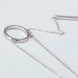 Chic Simple Style Ring Pendant Necklace For Women -